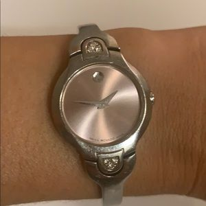 Authentic Movado Pink Diamond Watch